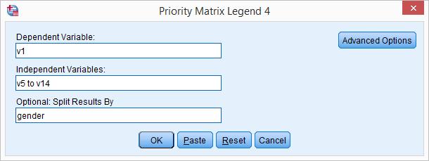 SPSS Python Hulp - Prioriteiten Matrix Tool