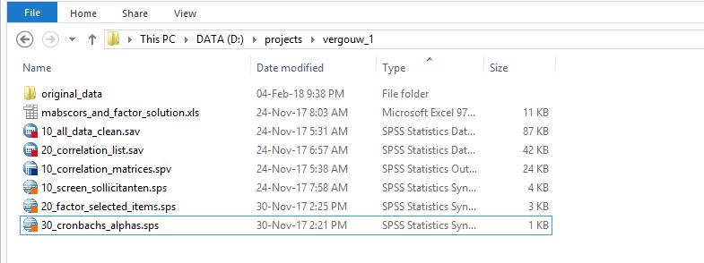 SPSS Hulp voor Studenten - Projectmap met Alle Bestanden